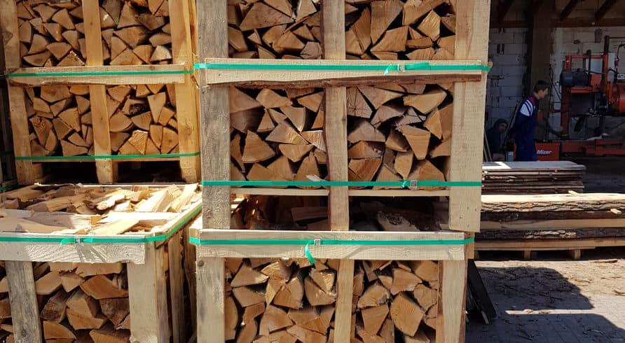 Brennholz & Kaminholz aus Buche - Palette
