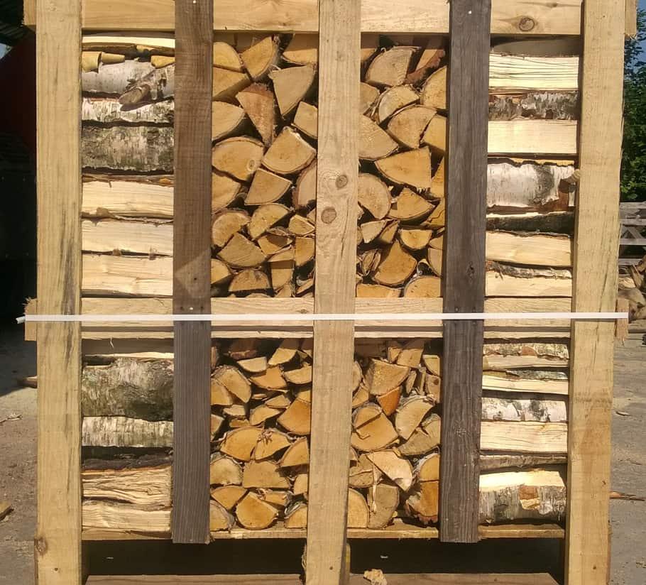 Brennholz & Kaminholz aus Birke - Palette